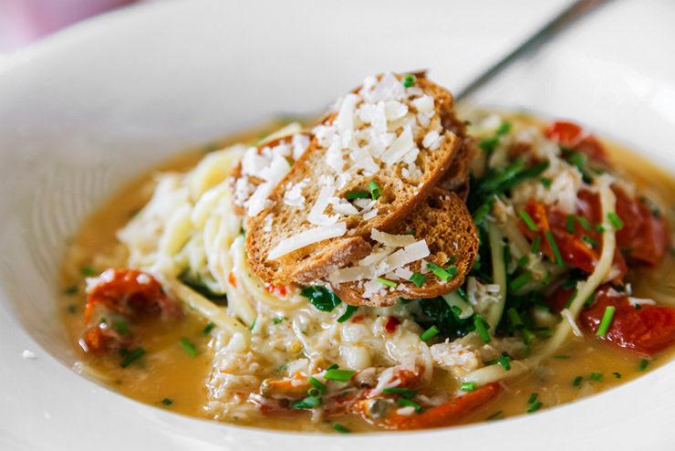 Crab Linguini at El Tico, Jersey